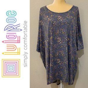 LuLaRoe Irma Faded Style High Low Oversized Shirt